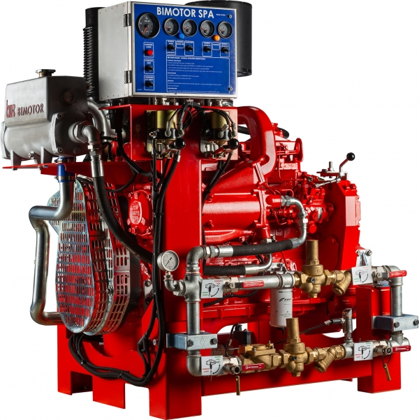 Bimotor for fire-fighting applications